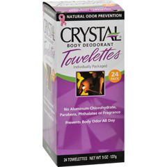 HGR0793083 - CrystalBody Deodorant Towelettes - 24 Towelettes