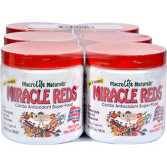 HGR0793786 - MacroLife NaturalsMiracle Reds Antioxidant Super Food 6 servings - Case of 6 - 2 oz