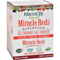 HGR0793810 - MacroLife NaturalsMiracle Reds Antioxidant Super Food - 12 Packets of .33 oz