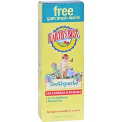 HGR0794735 - Earth's BestToddler Toothpaste Strawberry Banana - 1.6 oz