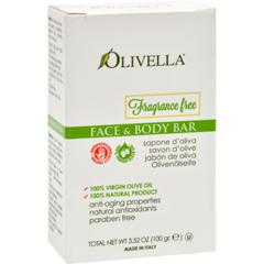 HGR0795039 - OlivellaFragrance Free Face And Body Bar - 3.52 oz