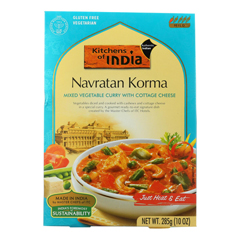 HGR0796094 - Kitchen of India - Dinner - Mixed Vegetable Curry with Cottage Cheese - Navratan Korma - 10 oz.. - case of 6