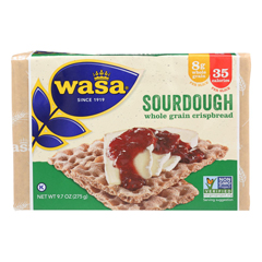 HGR0798207 - Wasa Crispbread - Rye Crispbread - Sourdough - Case of 12 - 9.7 oz..