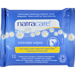 HGR0799015 - NatracareOrganic Cotton Intimate Wipes - 12 Wipes - Case of 12
