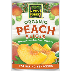 HGR0799205 - Native Forest - Organic Sliced - Peaches - Case of 6 - 15 oz..