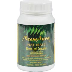 HGR0813162 - Neem Aura NaturalsNeem Aura Organic Neem Leaf - 60 Vegetarian Capsules
