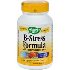 HGR0815944 - Nature's WayB-Stress Formula with Siberian Eleuthero - 100 Capsules