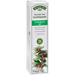HGR0816132 - Nature's GateNatural Toothpaste Gel Flouride Free Wintergreen - 5 oz - Case of 6