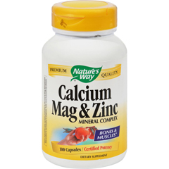 HGR0816769 - Nature's WayCalcium Mag and Zinc Mineral Complex - 100 Capsules