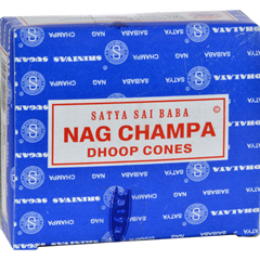 HGR0821181 - Sai BabaNag Champa Incense Cone - Case of 12 - 12 Packs