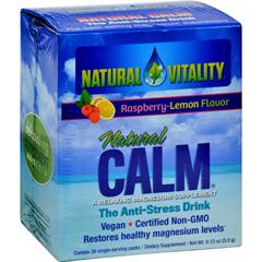 HGR0821777 - Natural VitalityMagnesium Natural Calm Raspberry Lemon - 30 Packets