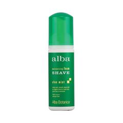 HGR0822338 - Alba BotanicaMoisturizing Foam Shave Aloe Mint - 5 fl oz