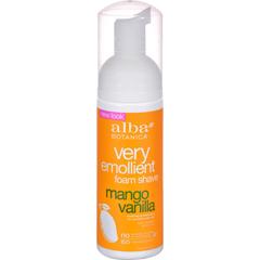 HGR0822353 - Alba BotanicaMoisturizing Foam Shave Mango Vanilla - 5 fl oz