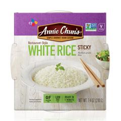 HGR0823799 - Annie Chun's - Rice Express White Sticky Rice - Case of 6 - 7.4 oz..
