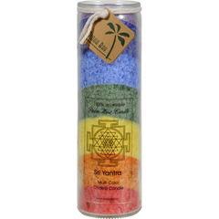 HGR0826792 - Aloha Bay - Unscented Chakra Jar Rainbow Sri Yantra 7 Color - 1 Candle