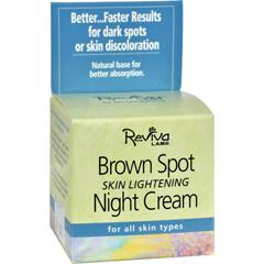 HGR0830869 - Reviva LabsBrown Spot Night Cream Skin Lightening - 1 oz