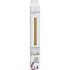 HGR0835140 - Wally's Natural Products - Beeswax Candles - Lavender - 2 Pack