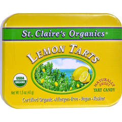 HGR0839431 - St Claire'sOrganic Lemon Tarts Display Case - Case of 6 - 1.5 oz