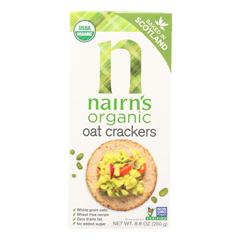 HGR0841346 - Nairn's - Rough Cut Organic Oatcakes - Case of 12 - 8.8 oz..