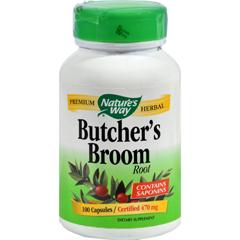 HGR0845206 - Nature's WayButchers Broom Root - 100 Capsules