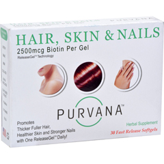 HGR0847558 - PurvanaHair Skin Nails - 2500 mcg - 30 Softgels