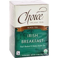 HGR0848598 - Choice Organic TeasIrish Breakfast Tea - 16 Tea Bags - Case of 6