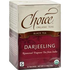 HGR0848697 - Choice Organic TeasDarjeeling Tea - 16 Tea Bags - Case of 6