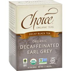 HGR0848796 - Choice Organic TeasDecaffeinated Earl Grey Tea - 16 Tea Bags - Case of 6