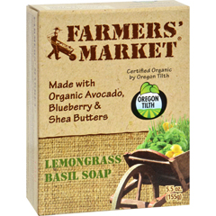 HGR0856138 - Farmer's MarketNatural Bar Soap Lemongrass Basil - 5.5 oz