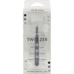 HGR0857276 - Earth TherapeuticsSoftouch Tweezer Black - 1 Unit