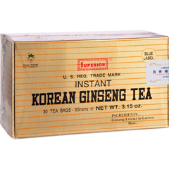 HGR0859322 - Superior Trading Co.Instant Korean Ginseng Tea - 30 Tea Bags