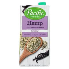 HGR0860866 - Pacific Natural Foods - Hemp Vanilla - Non Dairy - Case of 12 - 32 Fl oz..