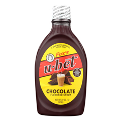 HGR0863720 - Fox's U-Bet - Chocolate Syrup - U - Bet Chocolate - Case of 12 - 22 oz..