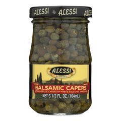 HGR0869487 - Alessi - Capers in White Balsamic Vinegar - 3.5 oz.. - Case of 6
