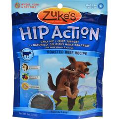 HGR0875351 - Zuke'sHip Action Dog Treats - Beef Formula - Case of 12 - 6 oz