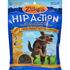 HGR0875377 - Zuke'sHip Action Dog Treats - Peanut Butter Formula - Case of 12 - 6 oz