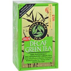 HGR0877589 - Triple Leaf TeaDecaffeinated Green Tea - 20 Tea Bags - Case of 6