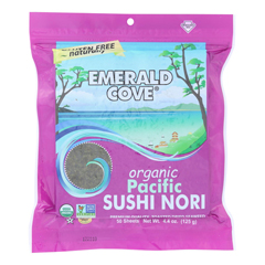 HGR0878264 - Emerald Cove - Organic Pacific Sushi Nori - Toasted - Silver Grade - 50 Sheets - Case of 4