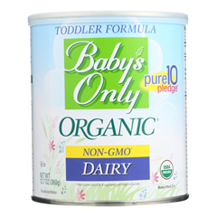 HGR0878959 - Baby's Only Organic - Dairy Iron Fortified Toddler Formula - Case of 6 - 12.7 oz..