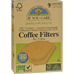 HGR0881508 - If You Care#2 Cone Coffee Filters - Brown - 100 Count