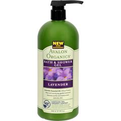 HGR0883330 - AvalonOrganics Bath and Shower Gel Lavender - 32 fl oz