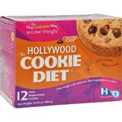 HGR0885236 - Hollywood DietMiracle Products Cookie Diet Meal Replacement Cookie Chocolate Chip - 12 Cookies