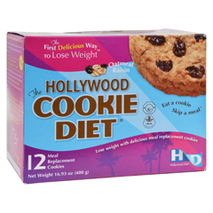 HGR0885376 - Hollywood DietMiracle Products Hollywood Cookie Diet Meal Replacement Cookie Oatmeal - 12 Cookies