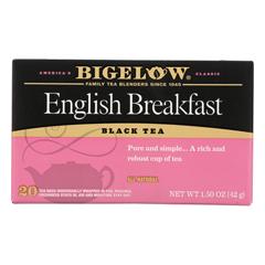 HGR0887547 - Bigelow - English Breakfast Black Tea - Case of 6 - 20 Bags