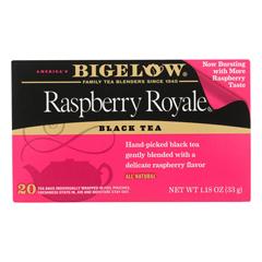 HGR0887786 - Bigelow - Raspberry Royale Black Tea - Case of 6 - 20 Bags
