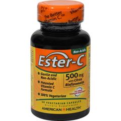 HGR0888073 - American Health - Ester-C with Citrus Bioflavonoids - 500 mg - 60 Vegetarian Capsules