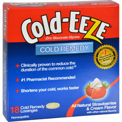 HGR0891705 - Cold-EEZECold Remedy Lozenges Strawberries and Cream - 18 Lozenges