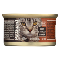 HGR0895060 - PetGuardCats Food - Beef and Barley Dinner - Case of 24 - 3 oz.