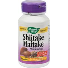 HGR0899989 - Nature's WayShiitake and Maitake Standardized - 60 Capsules