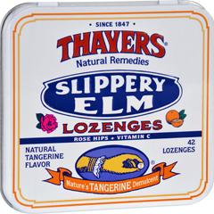HGR0901157 - ThayersSlippery Elm Lozenges Tangerine - 42 Lozenges - Case of 10